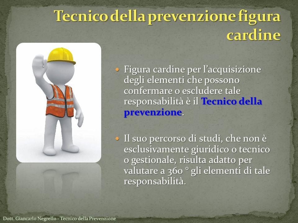 Tecnico della prevenzione figura cardine