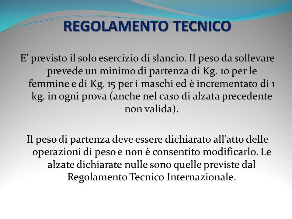 REGOLAMENTO TECNICO