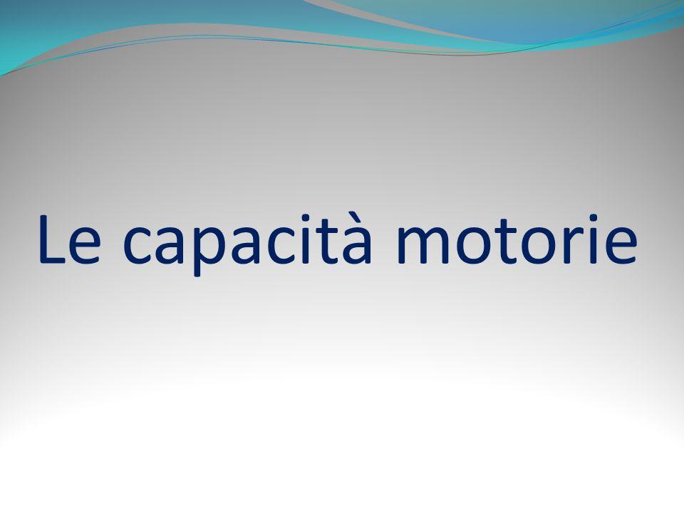 Le capacità motorie