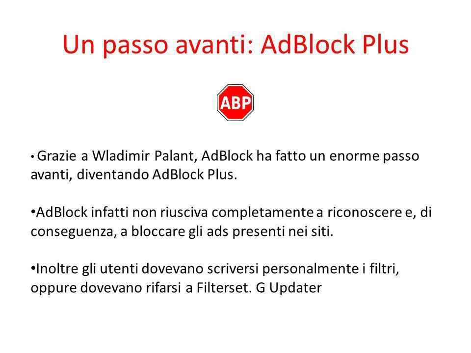 Un passo avanti: AdBlock Plus