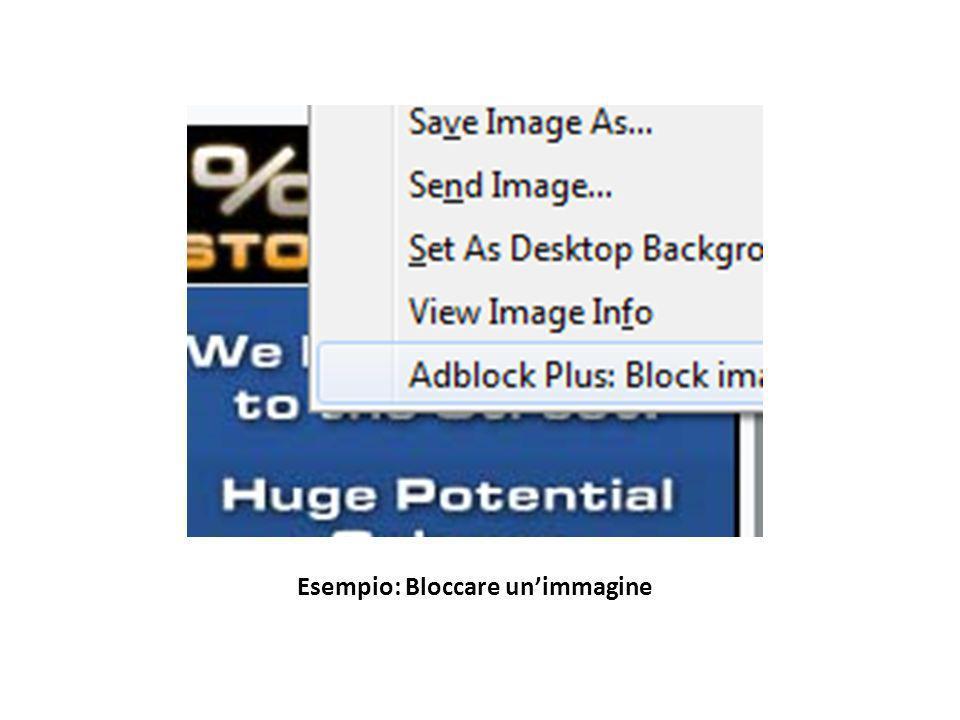 Esempio: Bloccare un'immagine