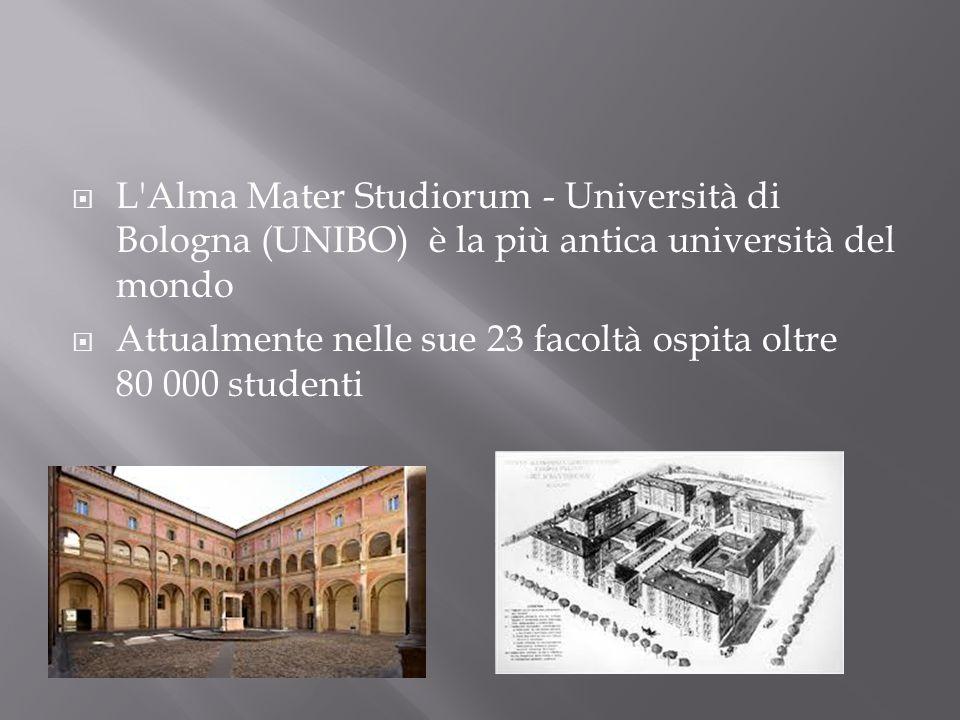 L Alma Mater Studiorum - Università di Bologna (UNIBO) è la più antica università del mondo