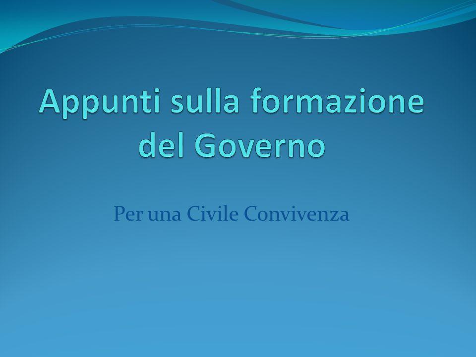 Appunti sulla formazione del Governo