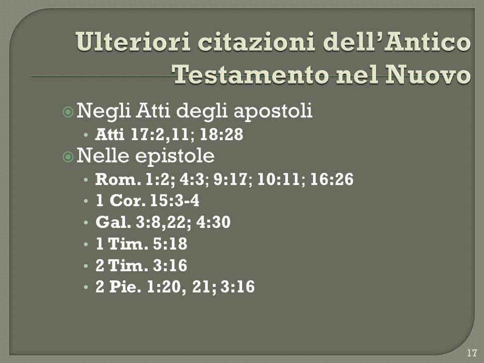 Ulteriori citazioni dell'Antico Testamento nel Nuovo
