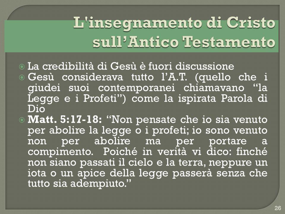 L insegnamento di Cristo sull'Antico Testamento