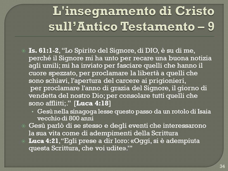 L insegnamento di Cristo sull'Antico Testamento – 9