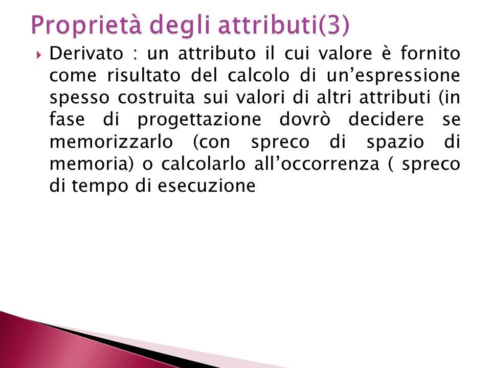 Proprietà degli attributi(3)