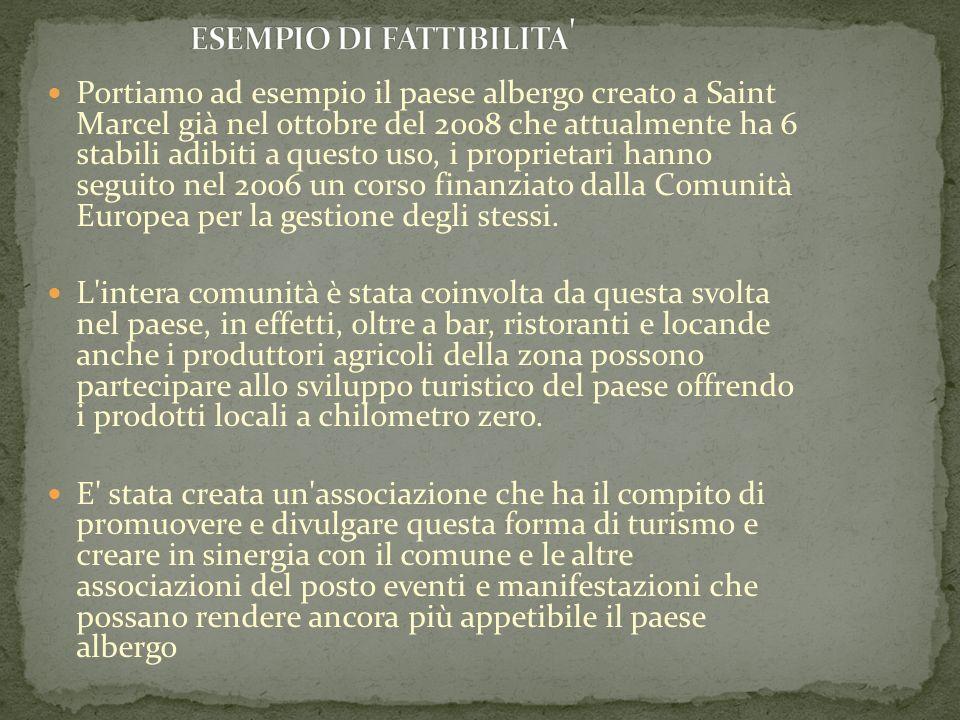 ESEMPIO DI FATTIBILITA