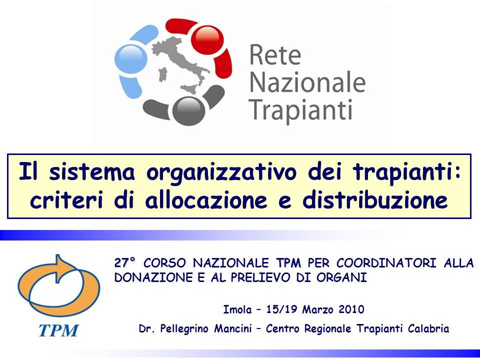 criteri di allocazione e distribuzione