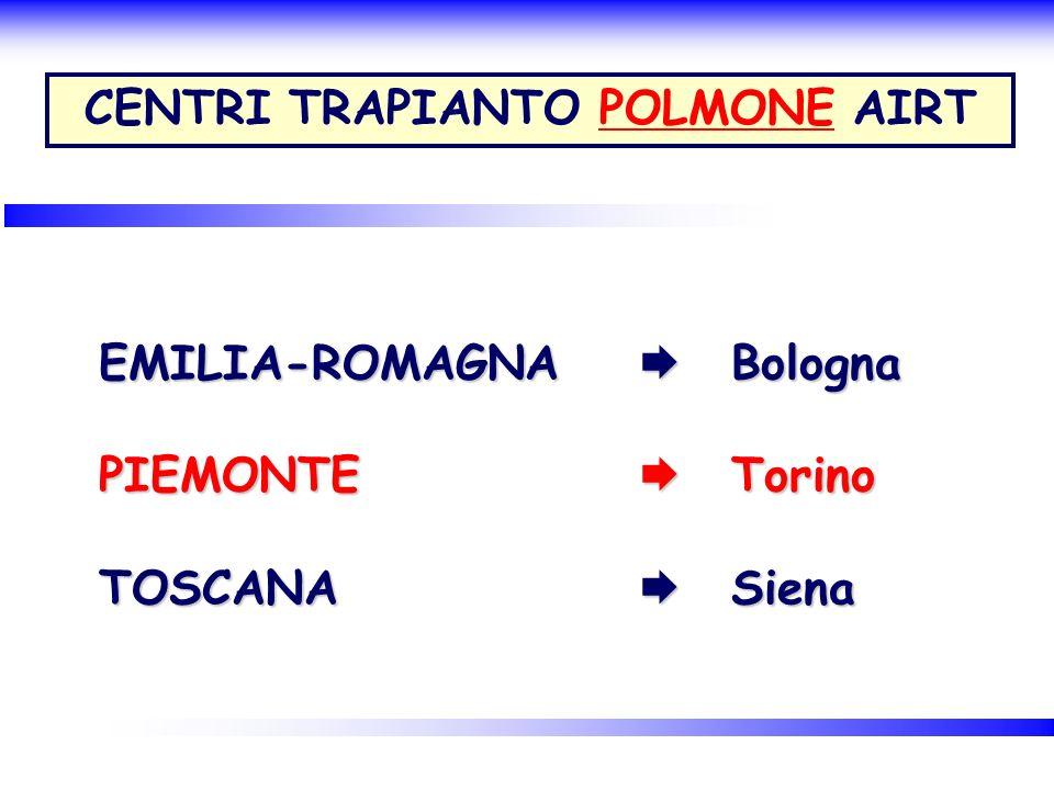 CENTRI TRAPIANTO POLMONE AIRT
