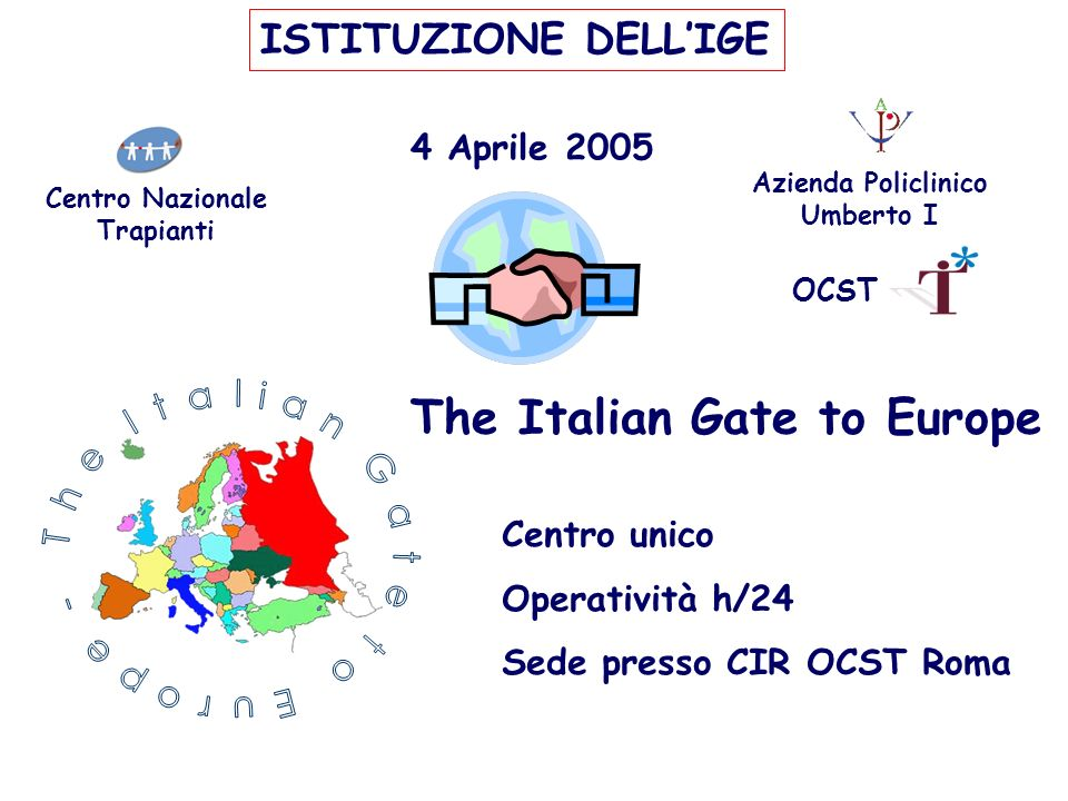 The Italian Gate to Europe -