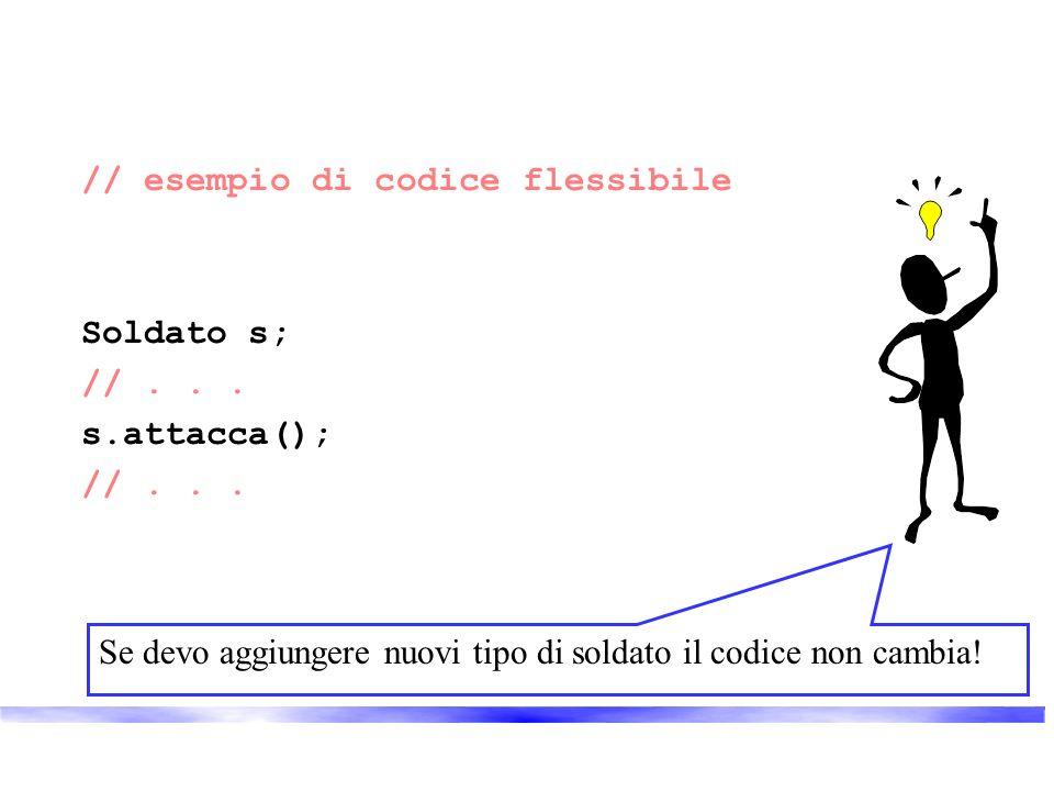 // esempio di codice flessibile