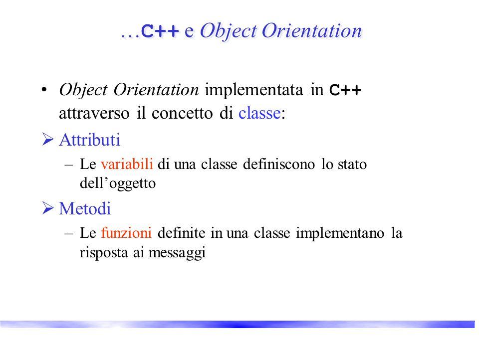 …C++ e Object Orientation