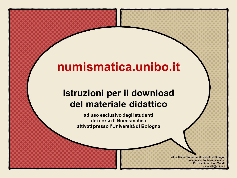 numismatica.unibo.it Istruzioni per il download