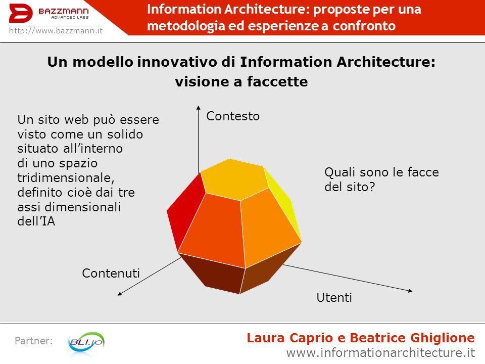 Un modello innovativo di Information Architecture: visione a faccette