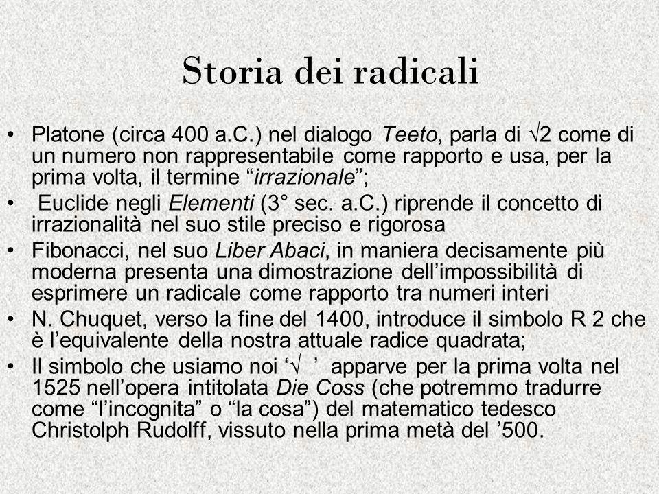 Storia dei radicali