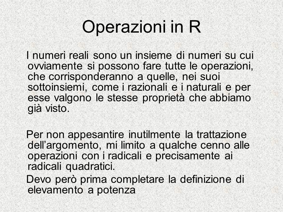 Operazioni in R