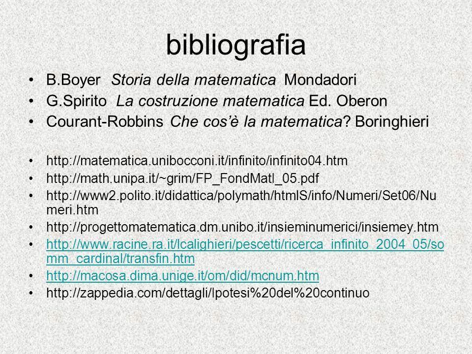 bibliografia B.Boyer Storia della matematica Mondadori