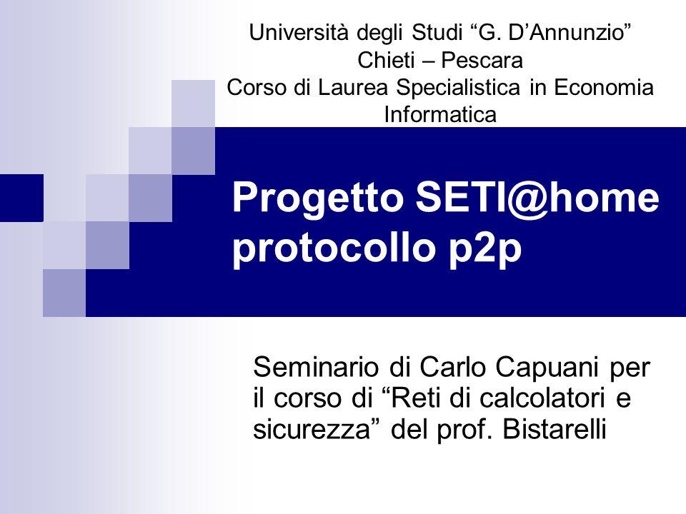 Progetto SETI@home protocollo p2p