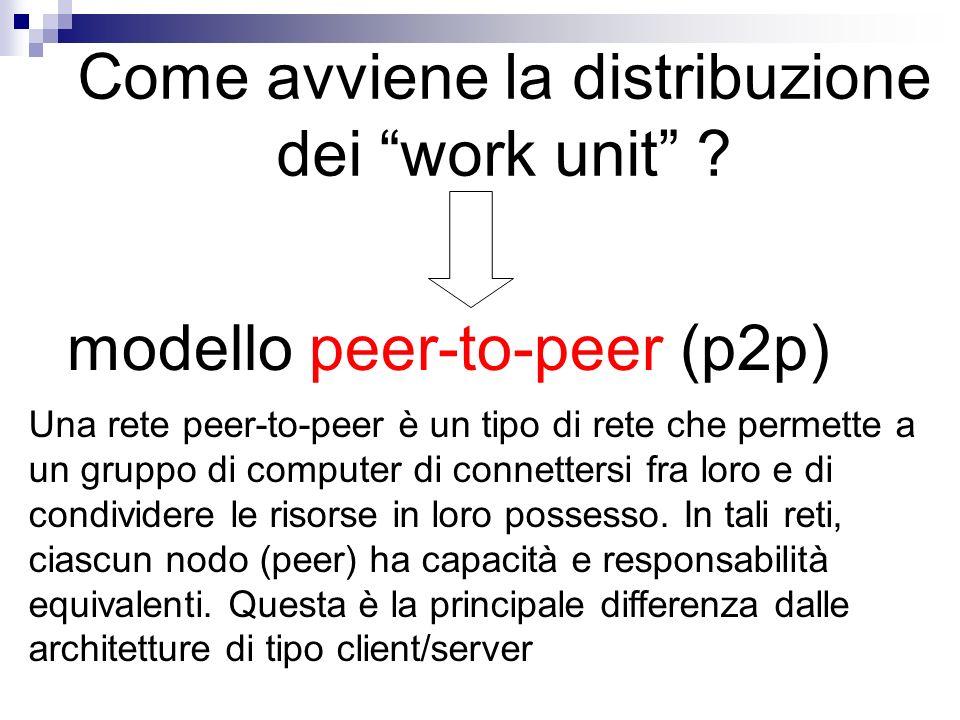 Come avviene la distribuzione dei work unit