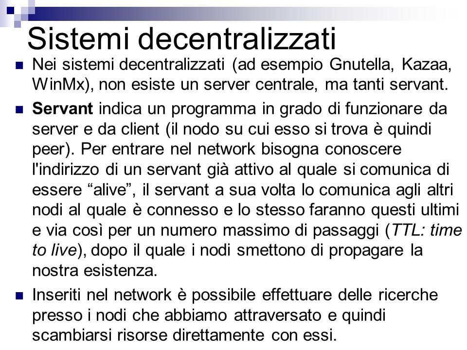 Sistemi decentralizzati