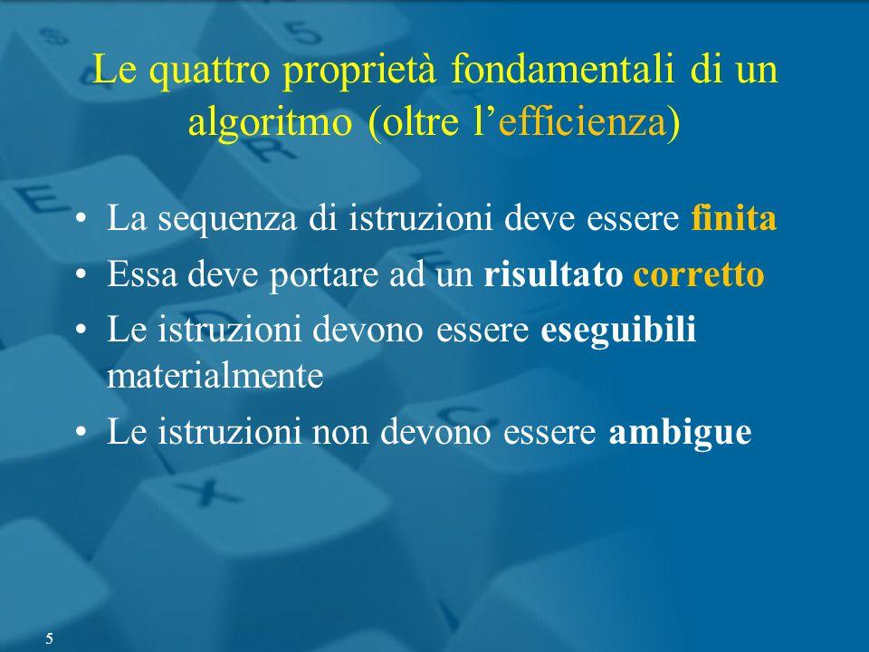 Le quattro proprietà fondamentali di un algoritmo (oltre l'efficienza)