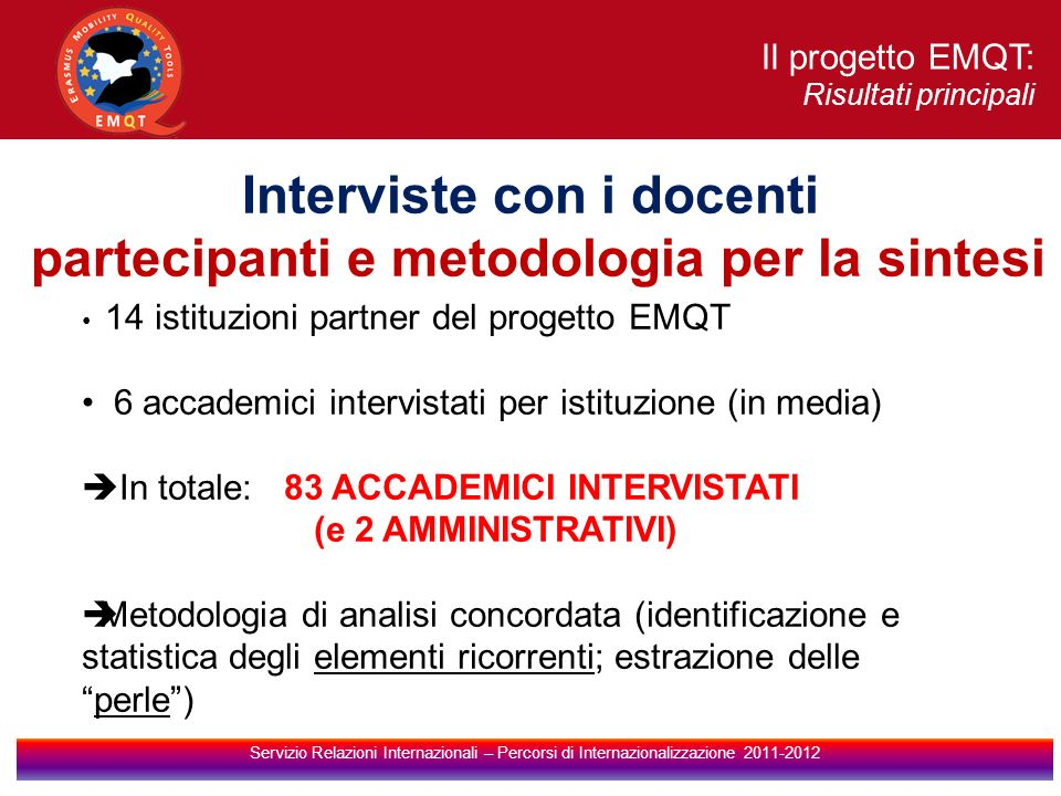 Interviste con i docenti partecipanti e metodologia per la sintesi
