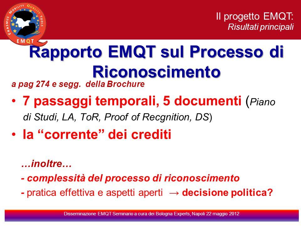 Rapporto EMQT sul Processo di Riconoscimento