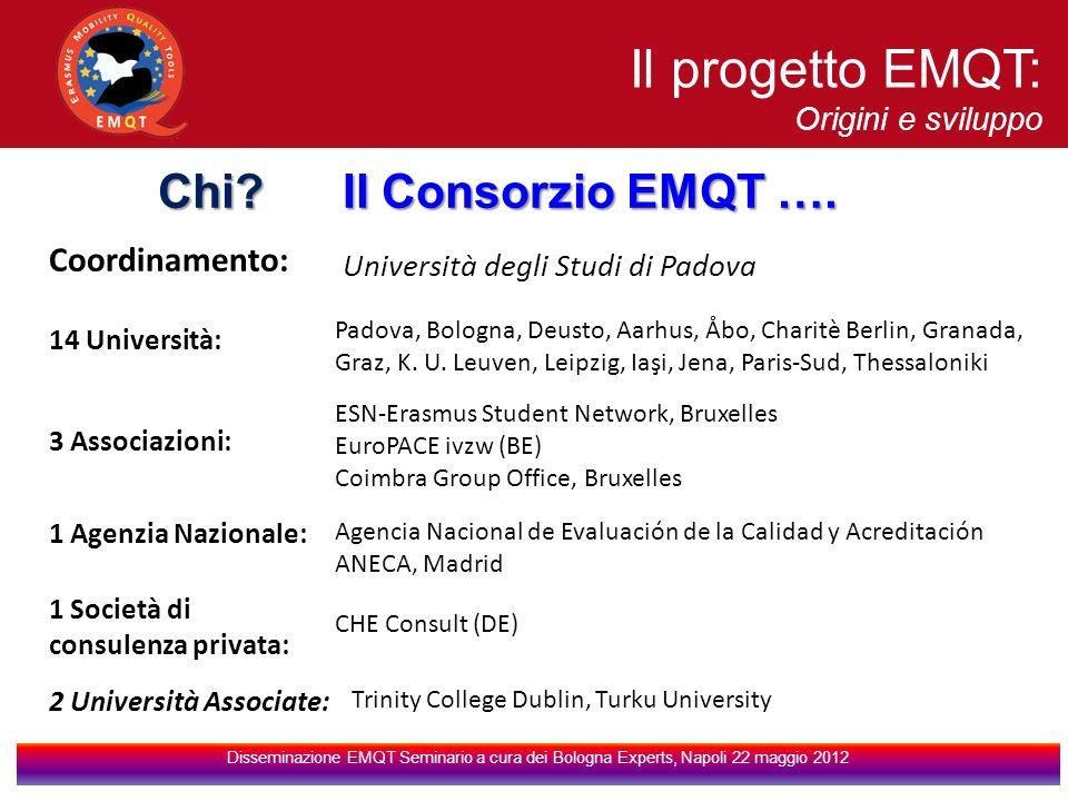 Il progetto EMQT: Chi Il Consorzio EMQT …. Coordinamento: