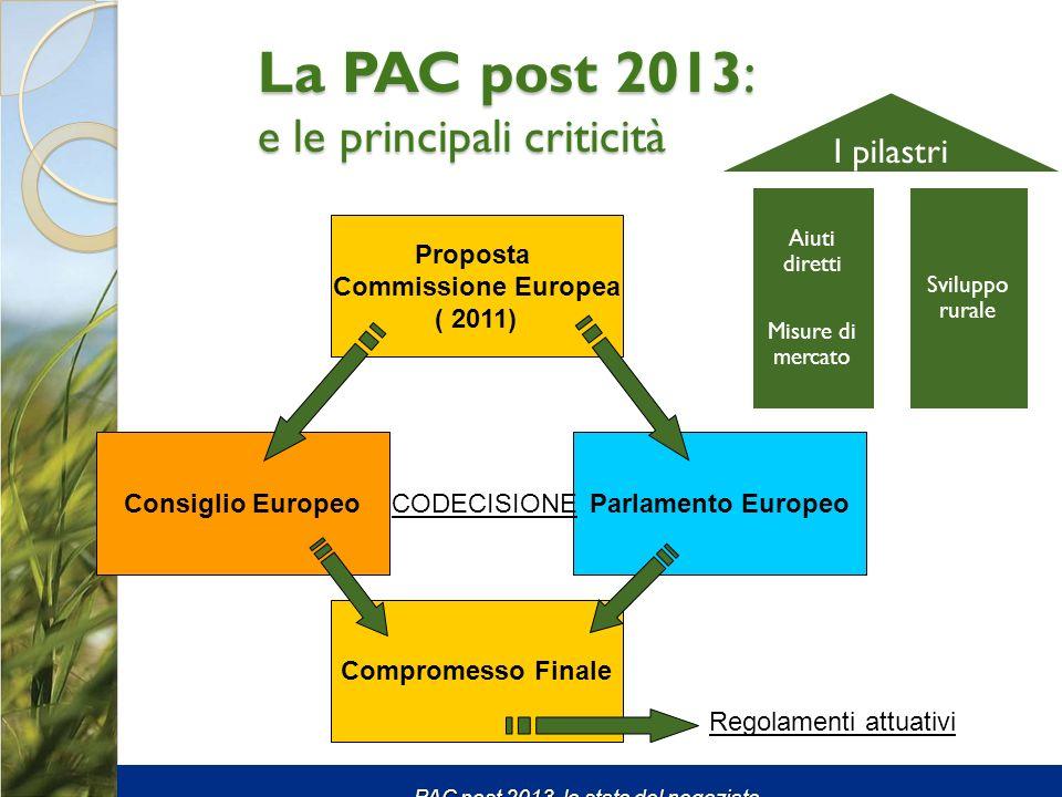La PAC post 2013: e le principali criticità