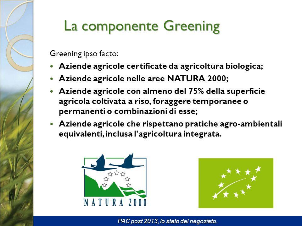 La componente Greening