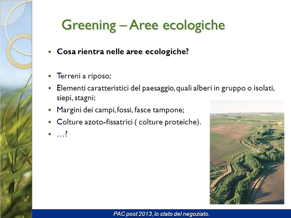 Greening – Aree ecologiche