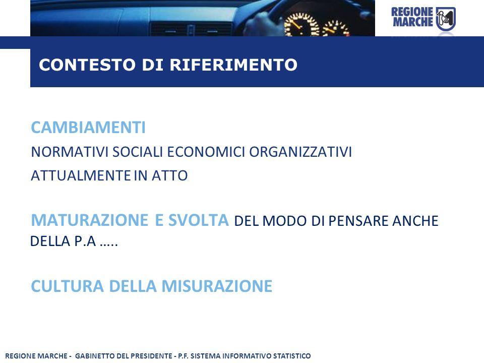 MATURAZIONE E SVOLTA DEL MODO DI PENSARE ANCHE DELLA P.A …..