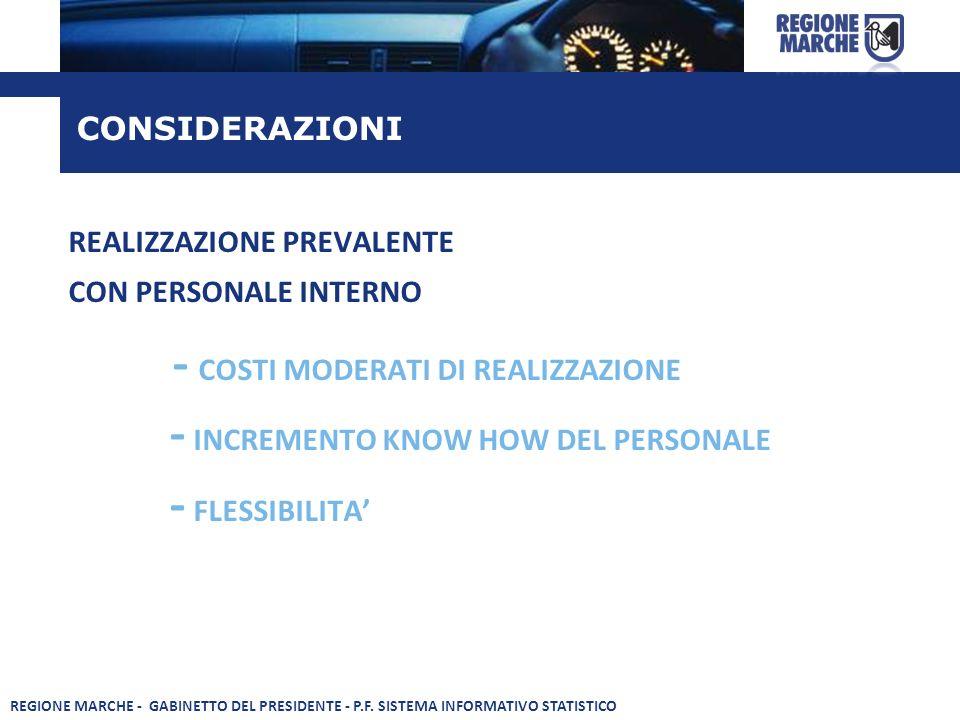 - COSTI MODERATI DI REALIZZAZIONE