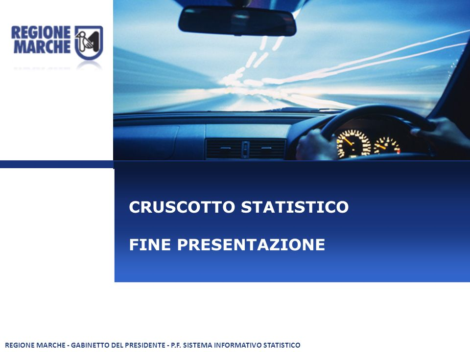 CRUSCOTTO STATISTICO FINE PRESENTAZIONE