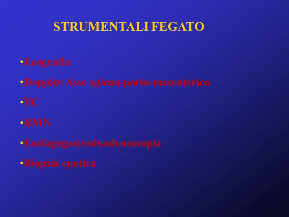 STRUMENTALI FEGATO Ecografia Doppler Asse spleno-porto-mesenterico TC