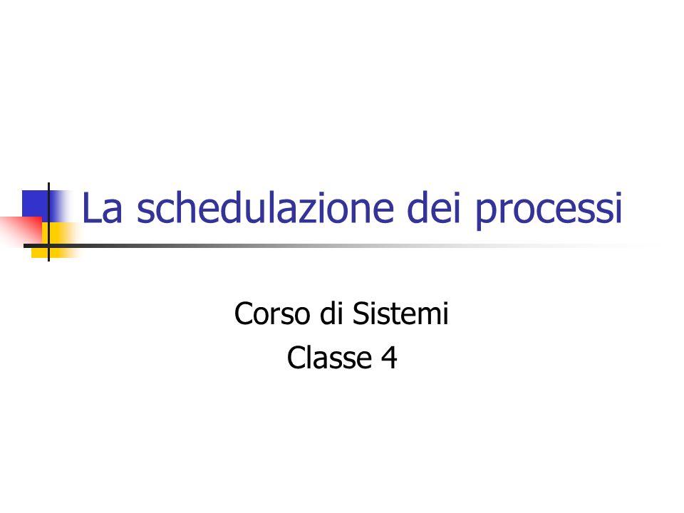 La schedulazione dei processi