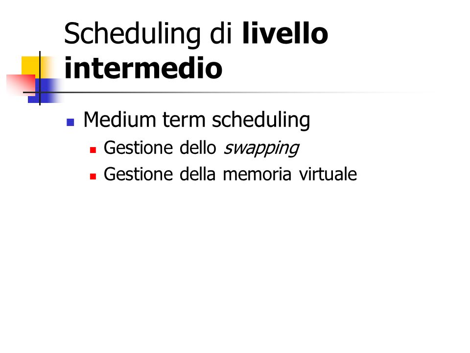 Scheduling di livello intermedio