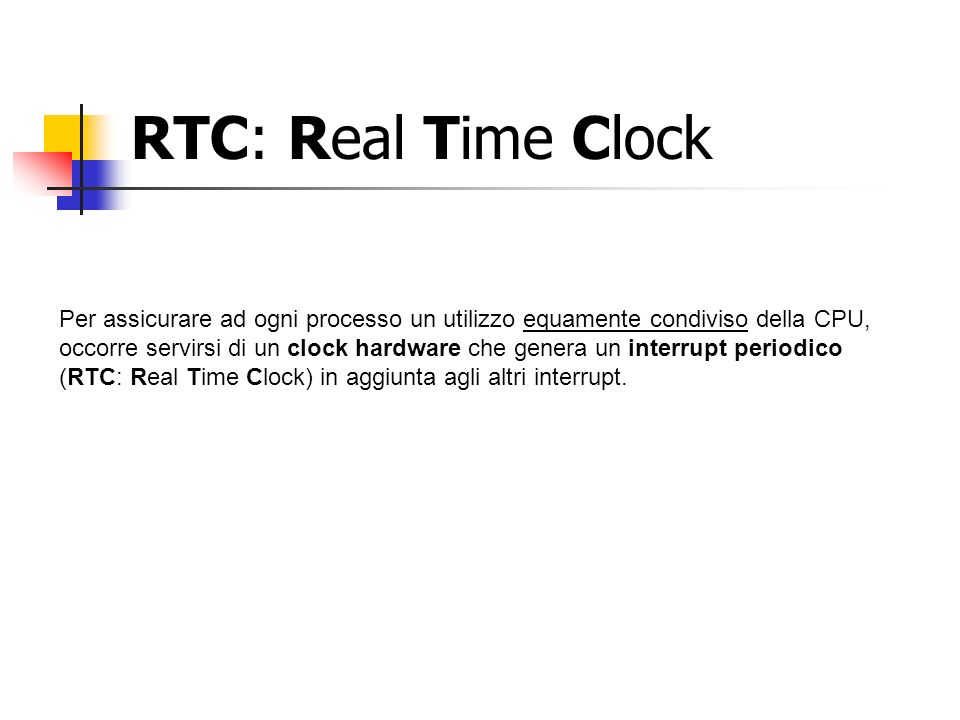 RTC: Real Time Clock