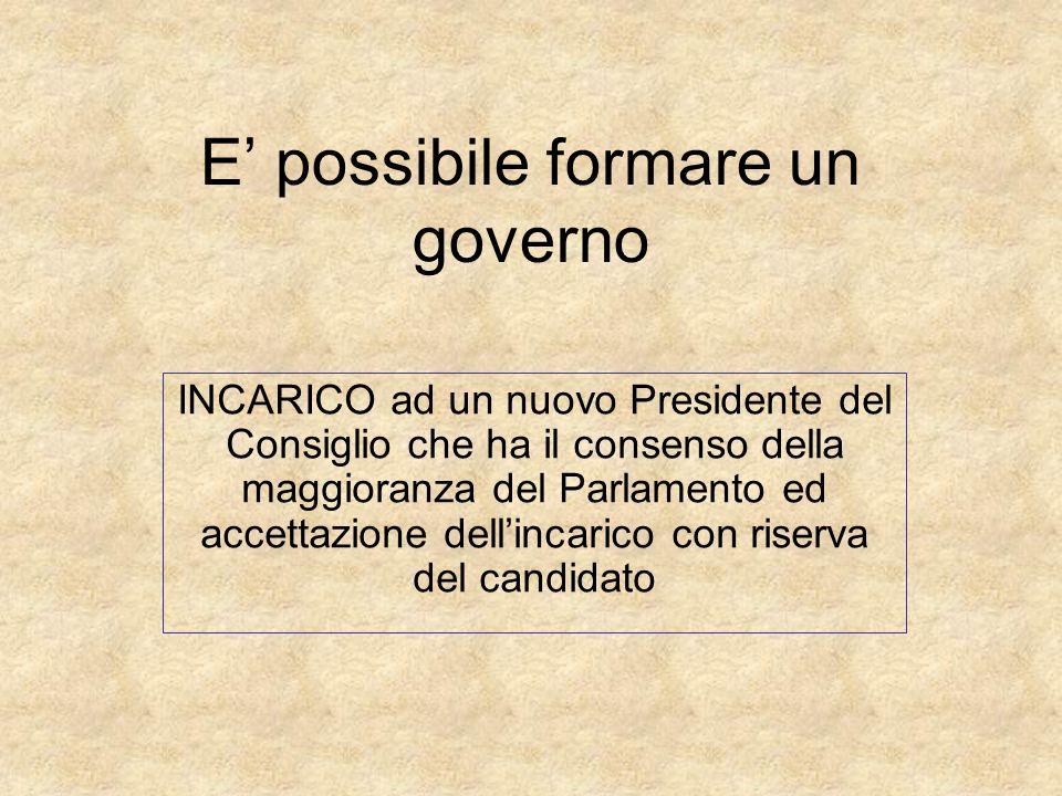 E' possibile formare un governo