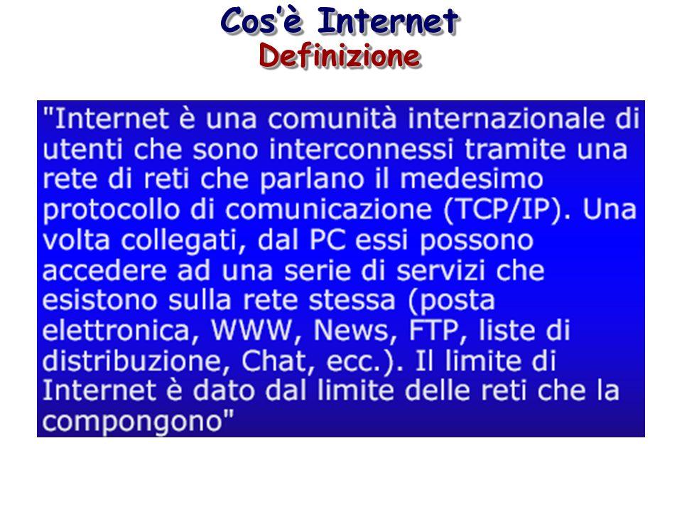 Cos'è Internet Definizione