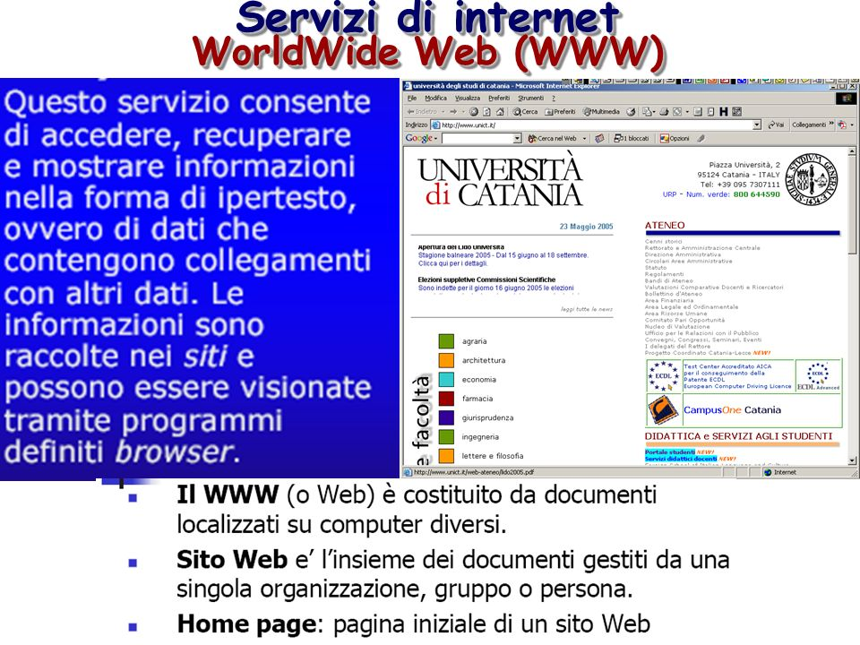 Servizi di internet WorldWide Web (WWW)