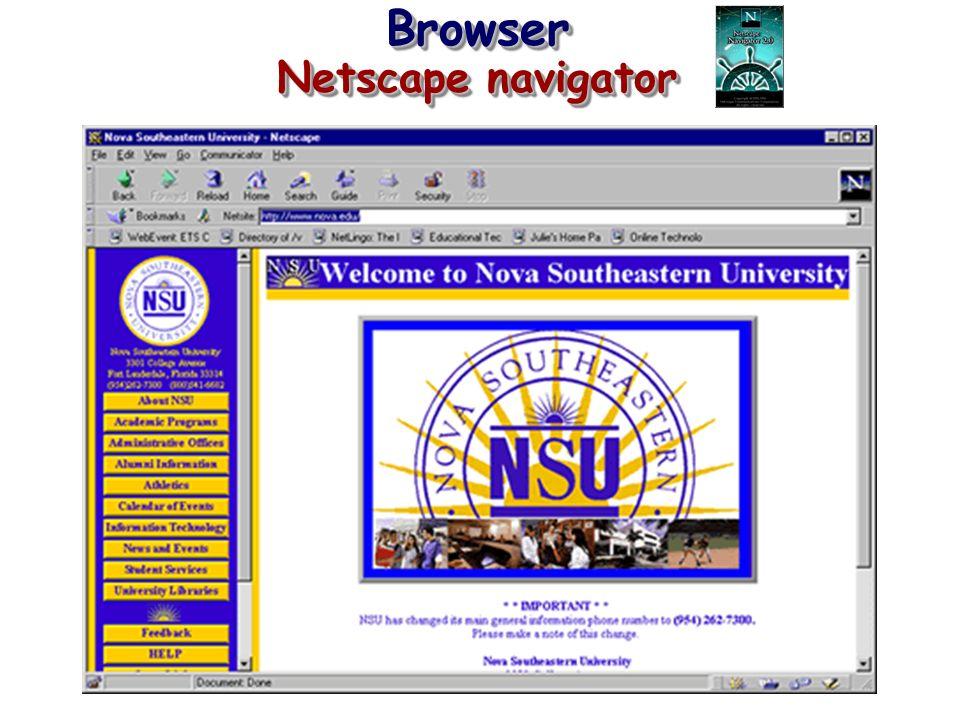 Browser Netscape navigator