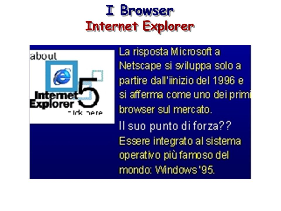 I Browser Internet Explorer