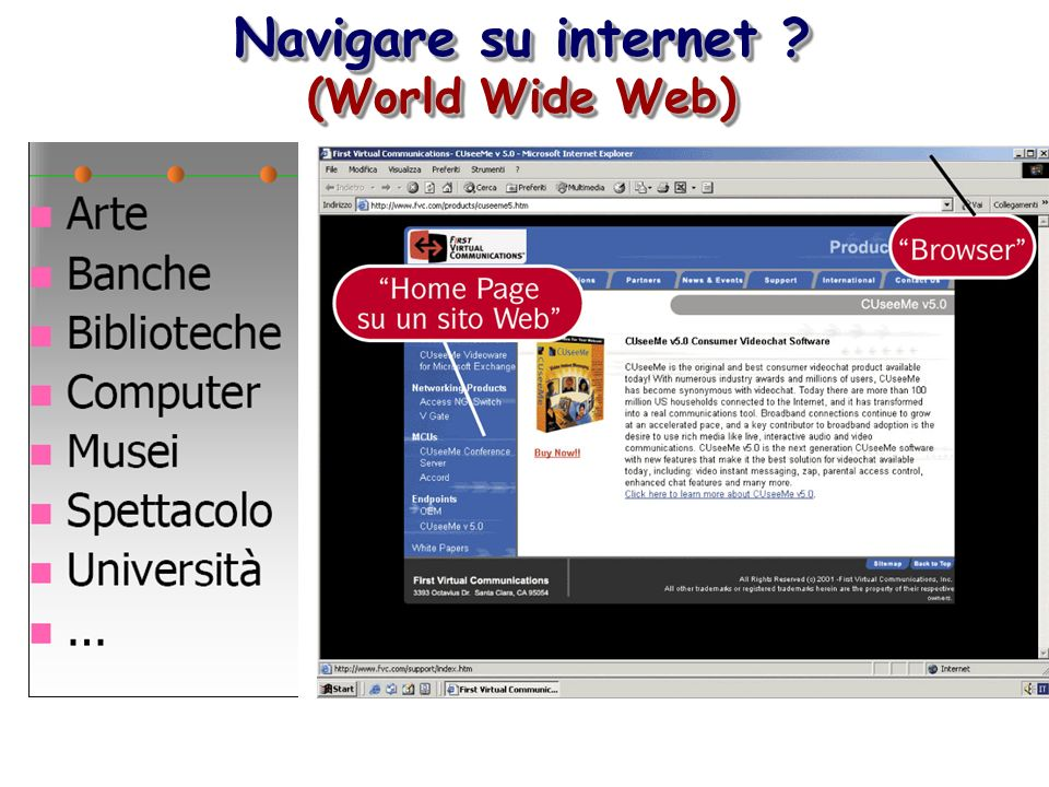 Navigare su internet (World Wide Web)