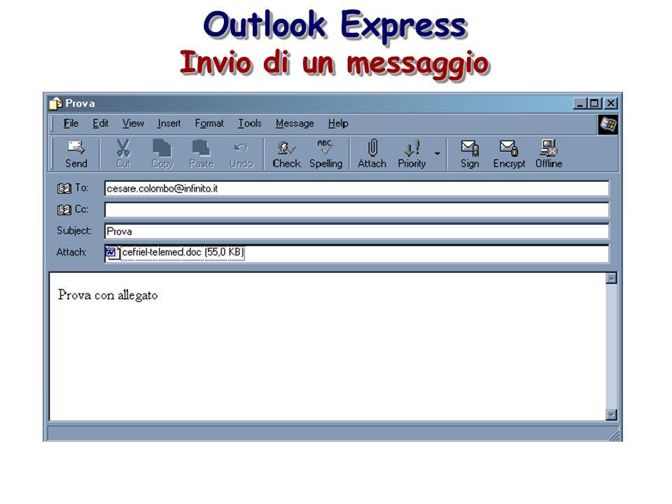 Outlook Express Invio di un messaggio