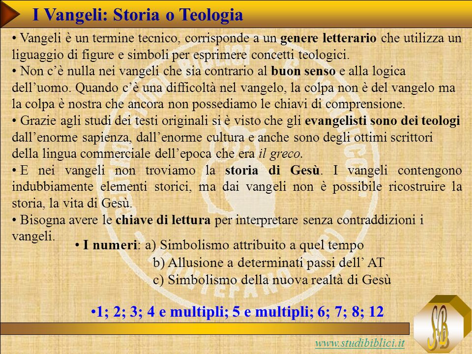 I Vangeli: Storia o Teologia