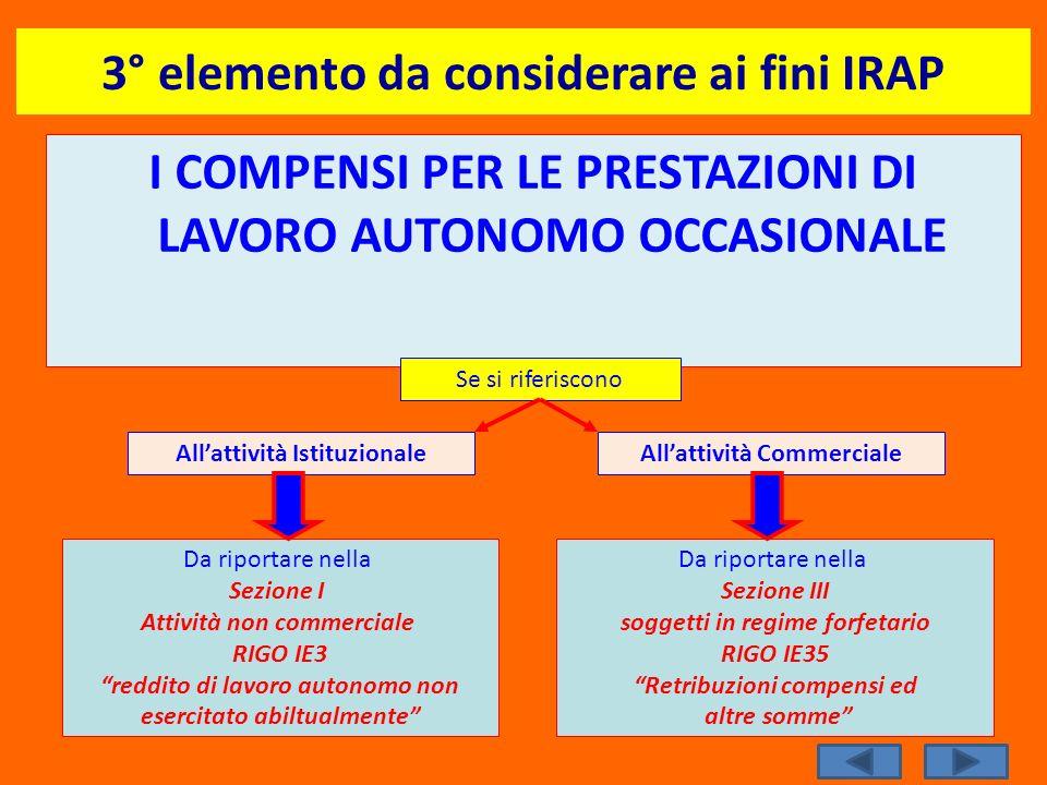 3° elemento da considerare ai fini IRAP