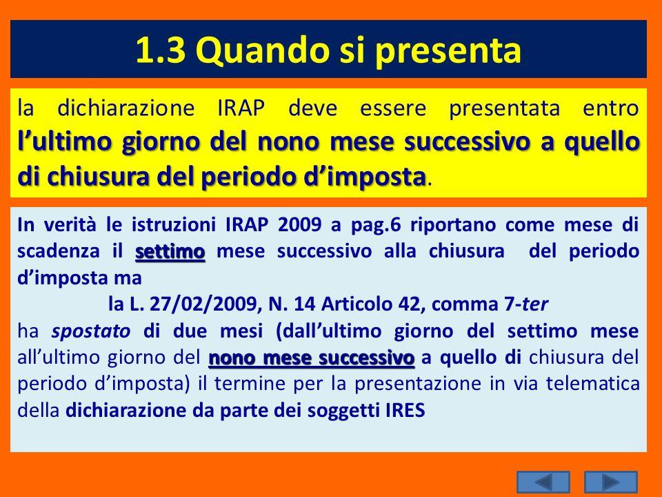 la L. 27/02/2009, N. 14 Articolo 42, comma 7-ter
