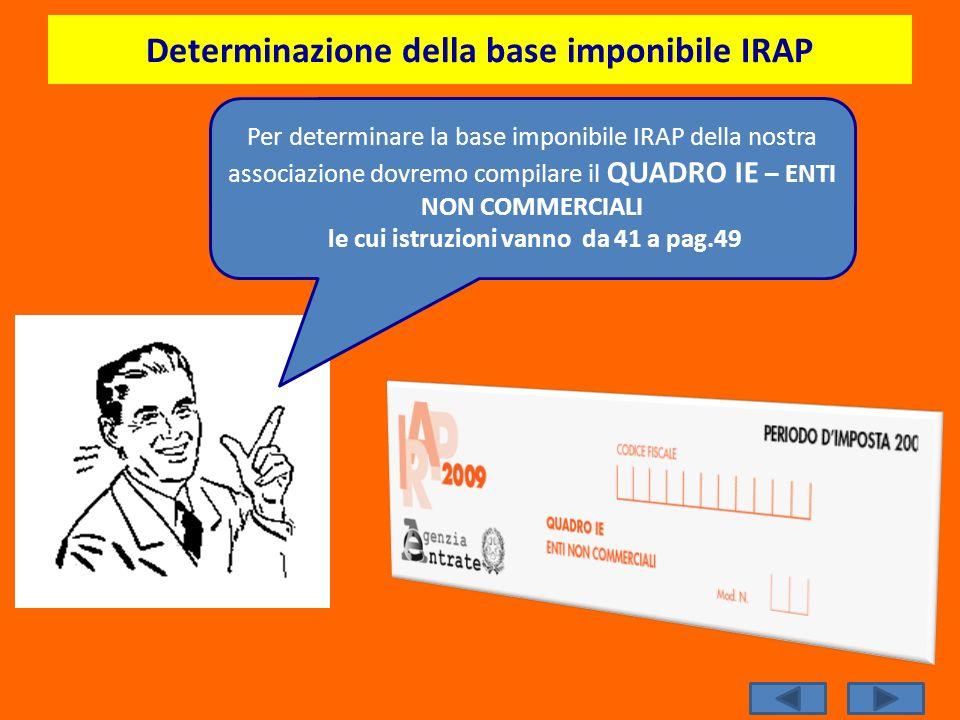 Determinazione della base imponibile IRAP
